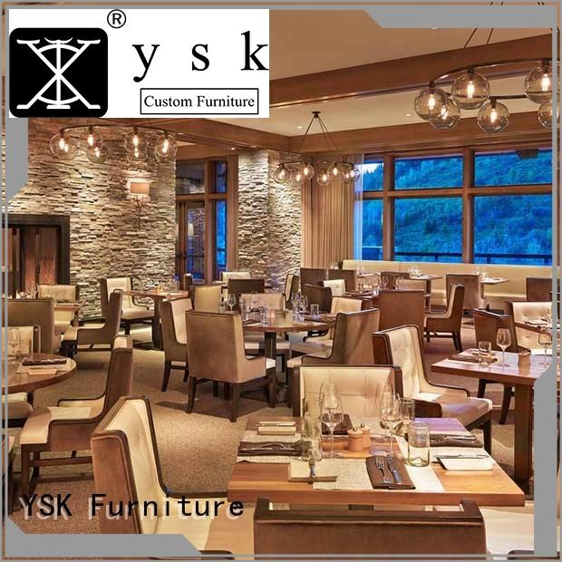 YSK Furniture customize luxury restaurant furniture interior five star hotel
