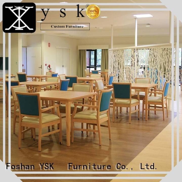 YSK Furniture wooden retirement home furniture furniutre age