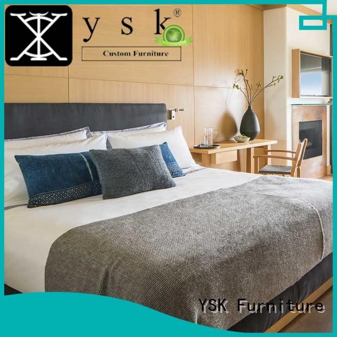 YSK Furniture luxury hotel bedroom furniture oem