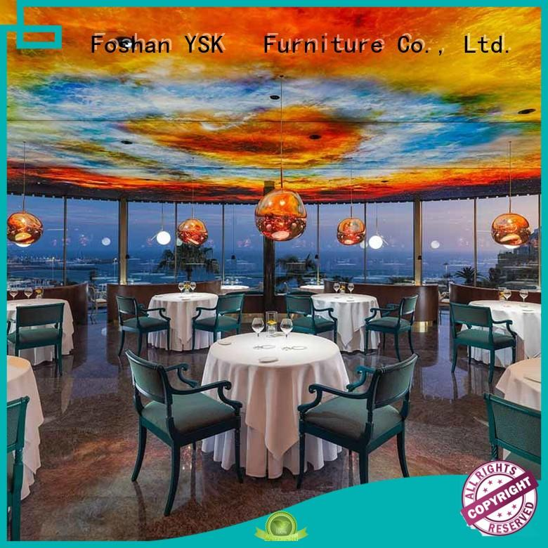 YSK Furniture customization restaurant furniture plywood dining furniture