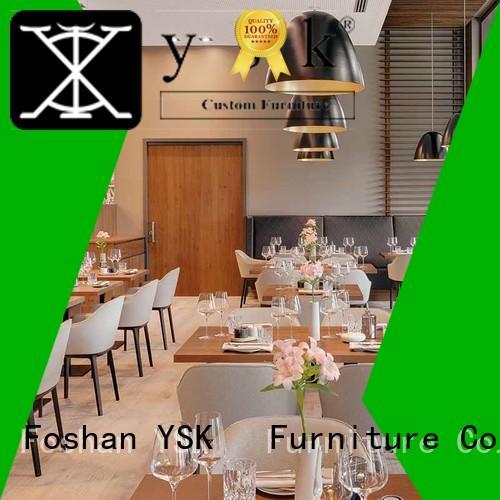YSK Furniture commercial restaurant furniture design plywood restaurant furniture