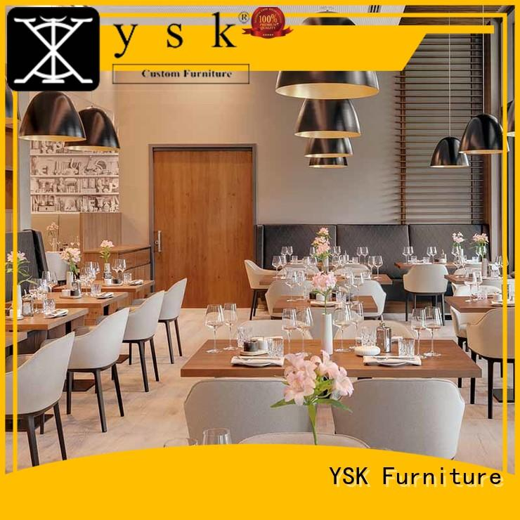 YSK Furniture high-end restaurant furniture plywood dining furniture