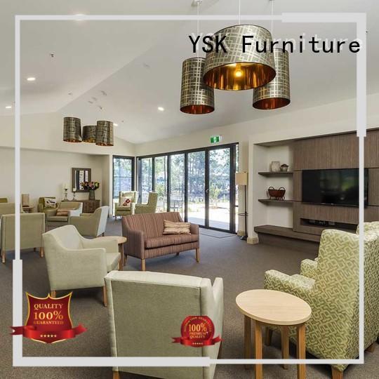 YSK Furniture factory price retirement home furniture premier room decoration