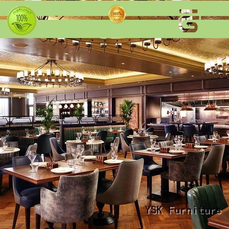 YSK Furniture high grade modern restaurant furniture plywood dining furniture