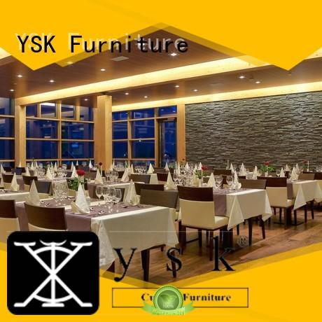 YSK Furniture customization custom restaurant furniture high quality five star hotel