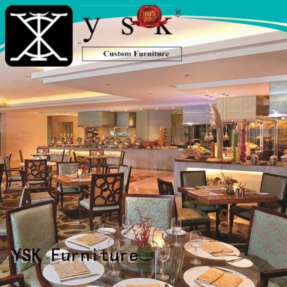 YSK Furniture customized modern restaurant furniture interior restaurant furniture