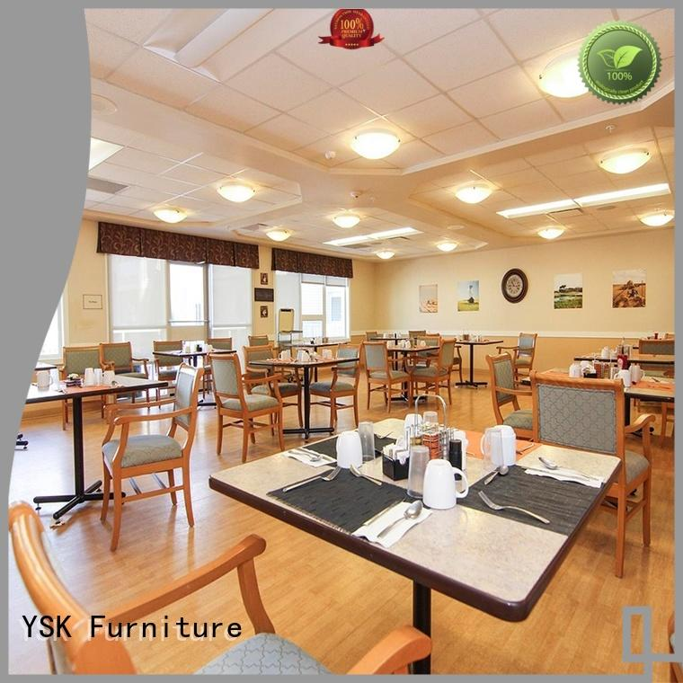 YSK Furniture wooden assisted living furniture quality facility community