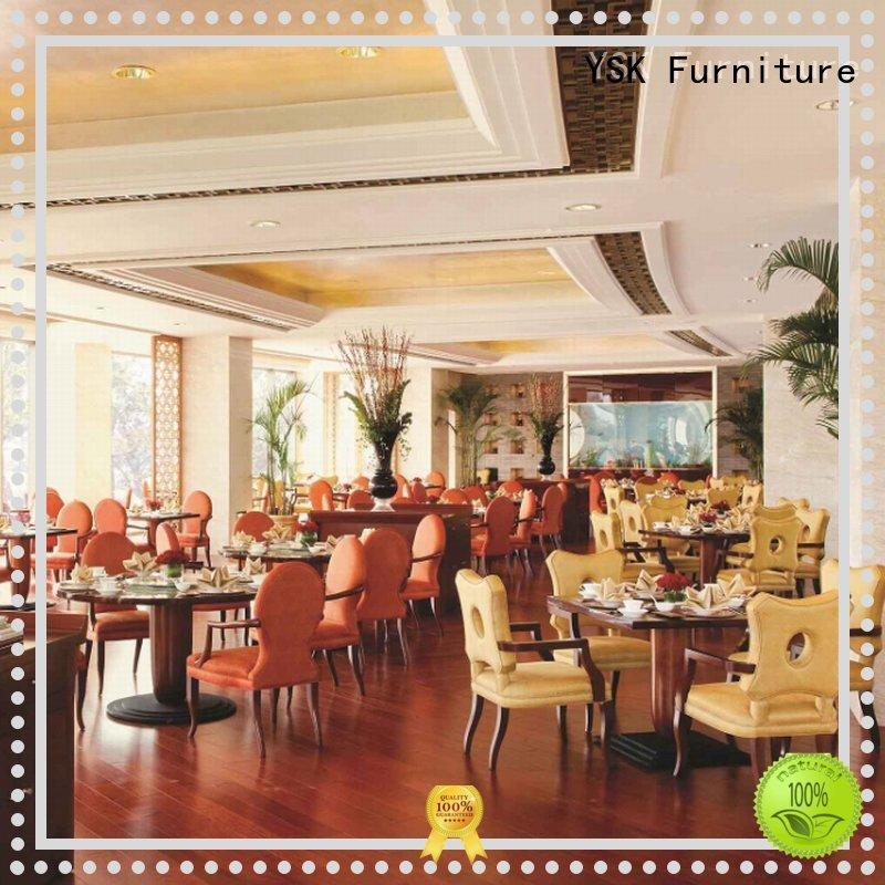 YSK Furniture customized modern restaurant furniture luxury five star hotel