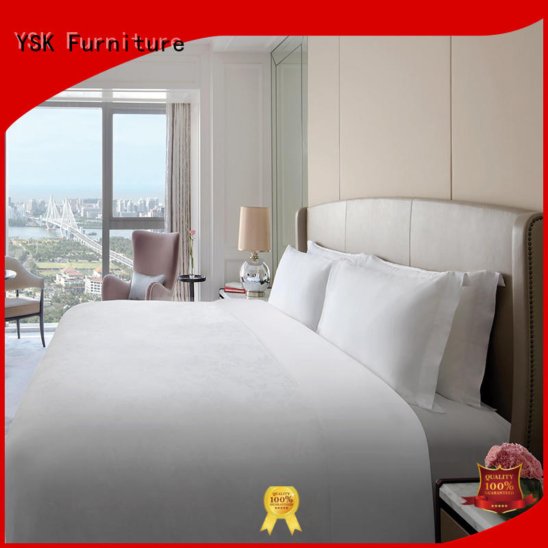 YSK Furniture five-star high quality hotel furniture wooden modern bedroom