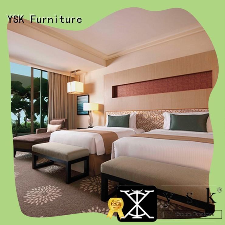 YSK Furniture hot-sale hotel lounge furniture wooden modern bedroom