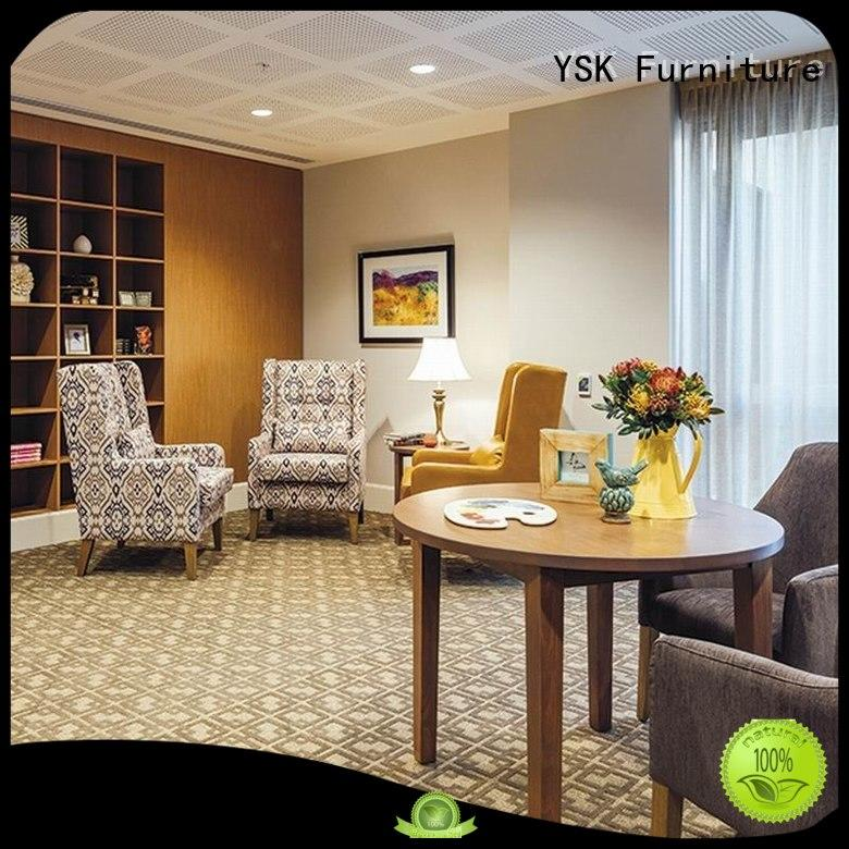 YSK Furniture factory price furniture for assisted living facilities furniture facility community