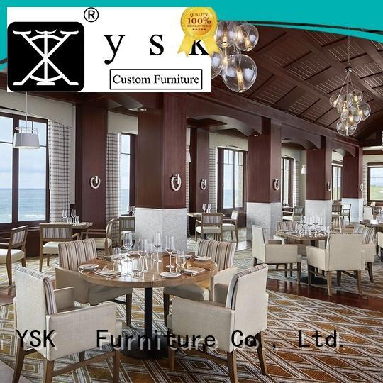 YSK Furniture customize luxury restaurant furniture stylish made five star hotel
