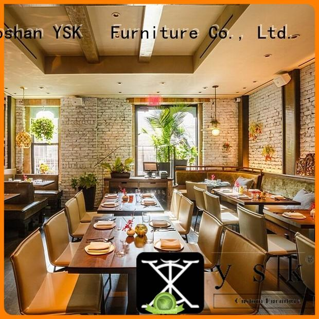 YSK Furniture contemporary contract restaurant furniture stylish made five star hotel