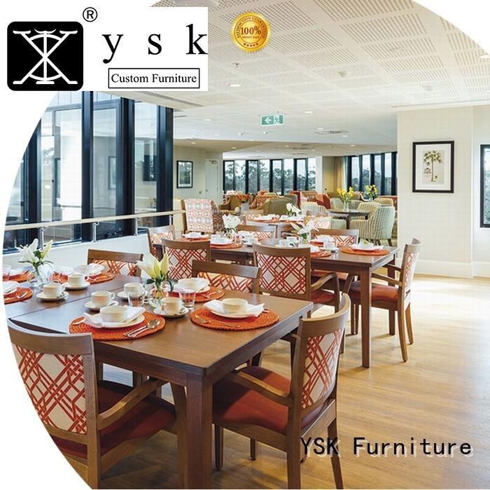 YSK Furniture deluxe design modern restaurant furniture plywood ship furniture