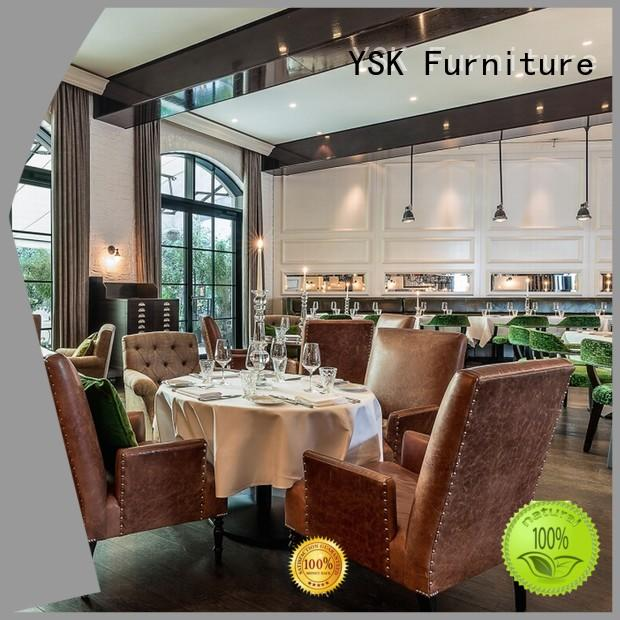 YSK Furniture solid wood contract restaurant furniture stylish made dining furniture