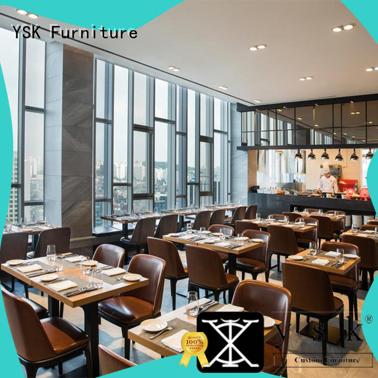 wooden restaurant furniture supply interior dining furniture YSK Furniture