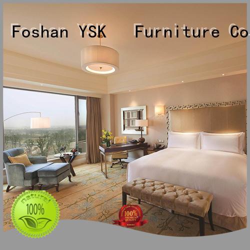 YSK Furniture commercial hotel room furniture wooden modern bedroom