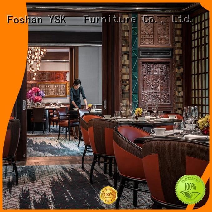 YSK Furniture hospitality luxury restaurant furniture plywood five star hotel