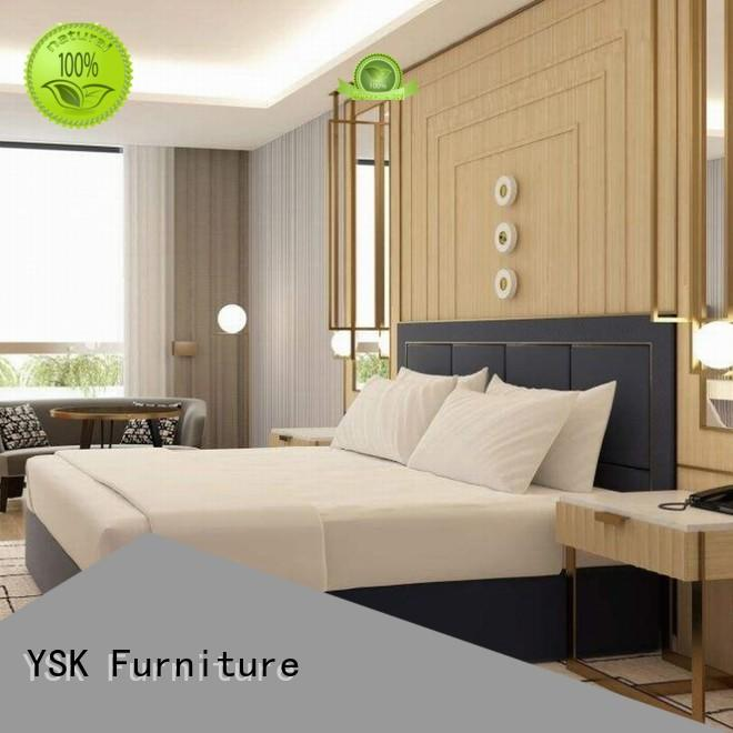 YSK Furniture customized hotel furniture set made hotels room
