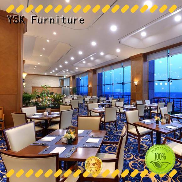 YSK Furniture wooden modern restaurant furniture luxury five star hotel