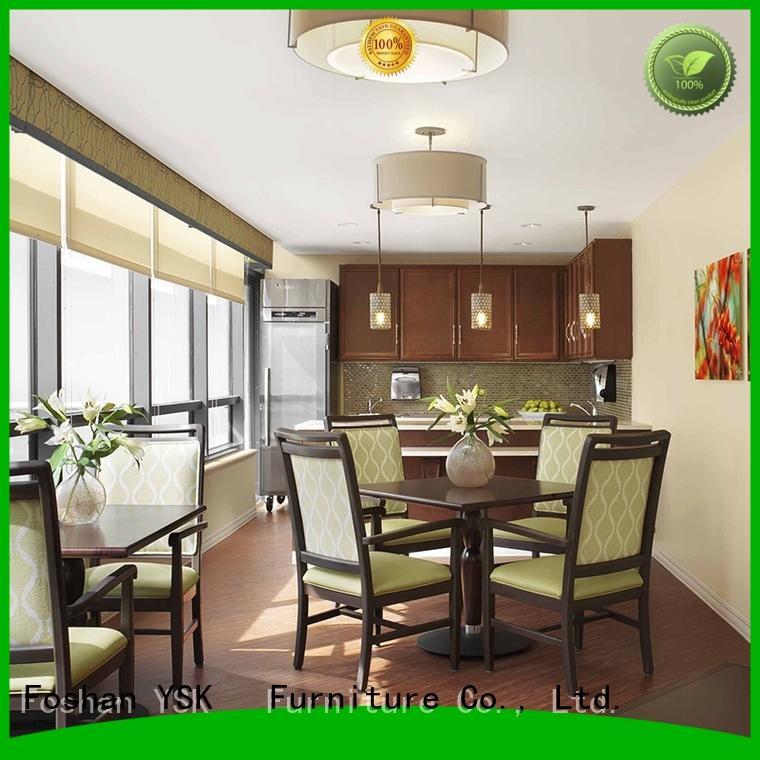 YSK Furniture wooden senior living furniture expert facility community