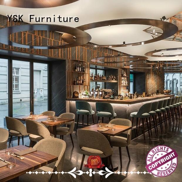 YSK Furniture custom restaurant furniture high quality dining furniture