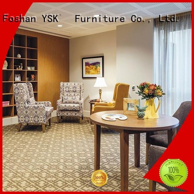 YSK Furniture wooden senior living furniture custom made room decoration