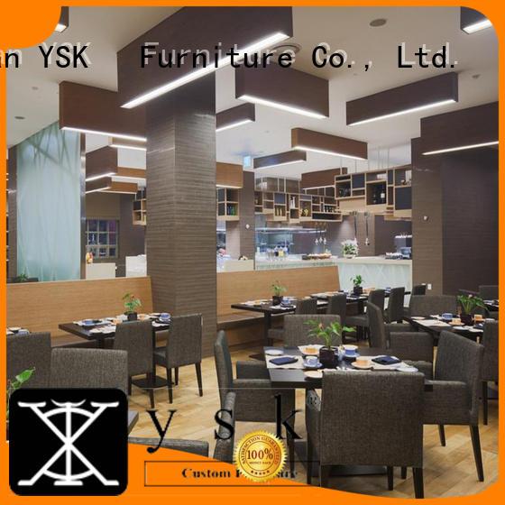 YSK Furniture hospitality custom restaurant furniture plywood five star hotel
