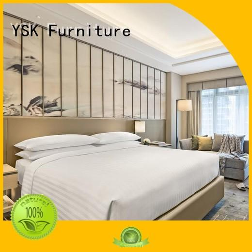 YSK Furniture contemporary hotel bedroom furniture oem modern bedroom