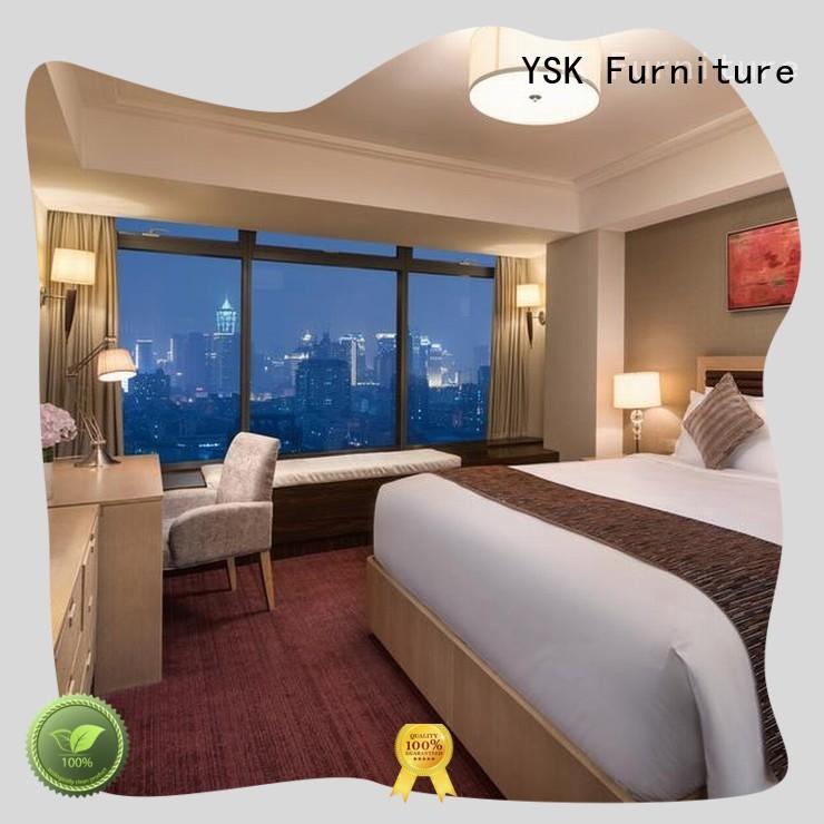 YSK Furniture business hotel furniture set twin modern bedroom