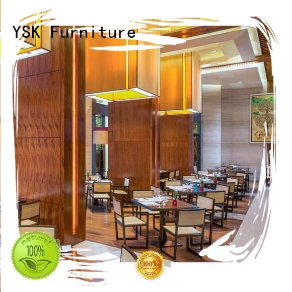 YSK Furniture solid wood modern restaurant furniture stylish made dining furniture