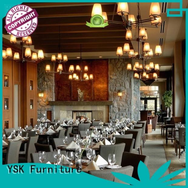 YSK Furniture solid wood custom restaurant furniture high quality ship furniture