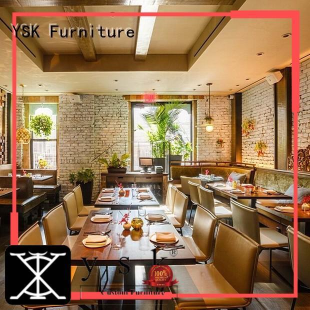 YSK Furniture solid wood modern restaurant furniture high quality ship furniture