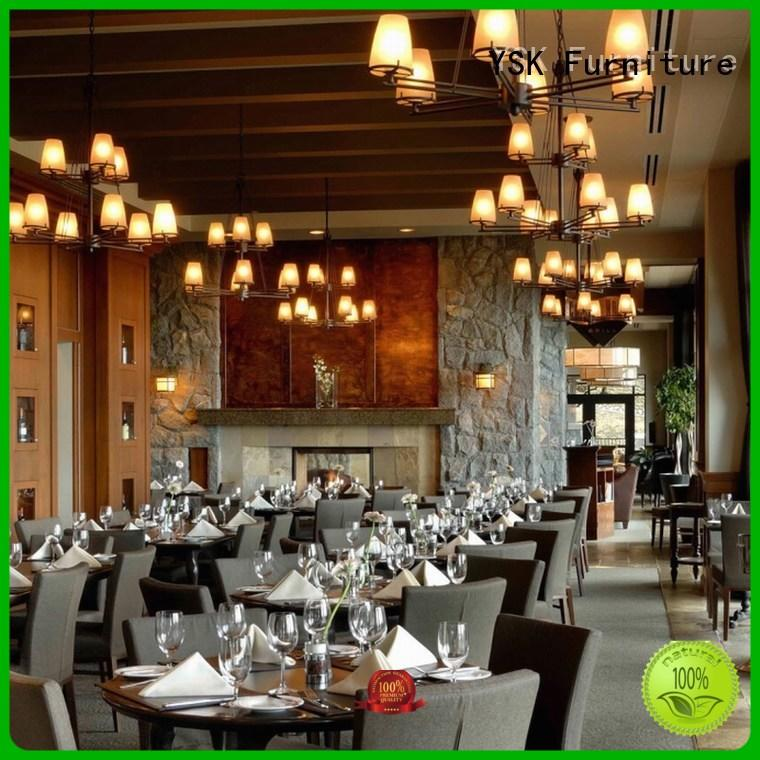 YSK Furniture project luxury restaurant furniture plywood dining furniture