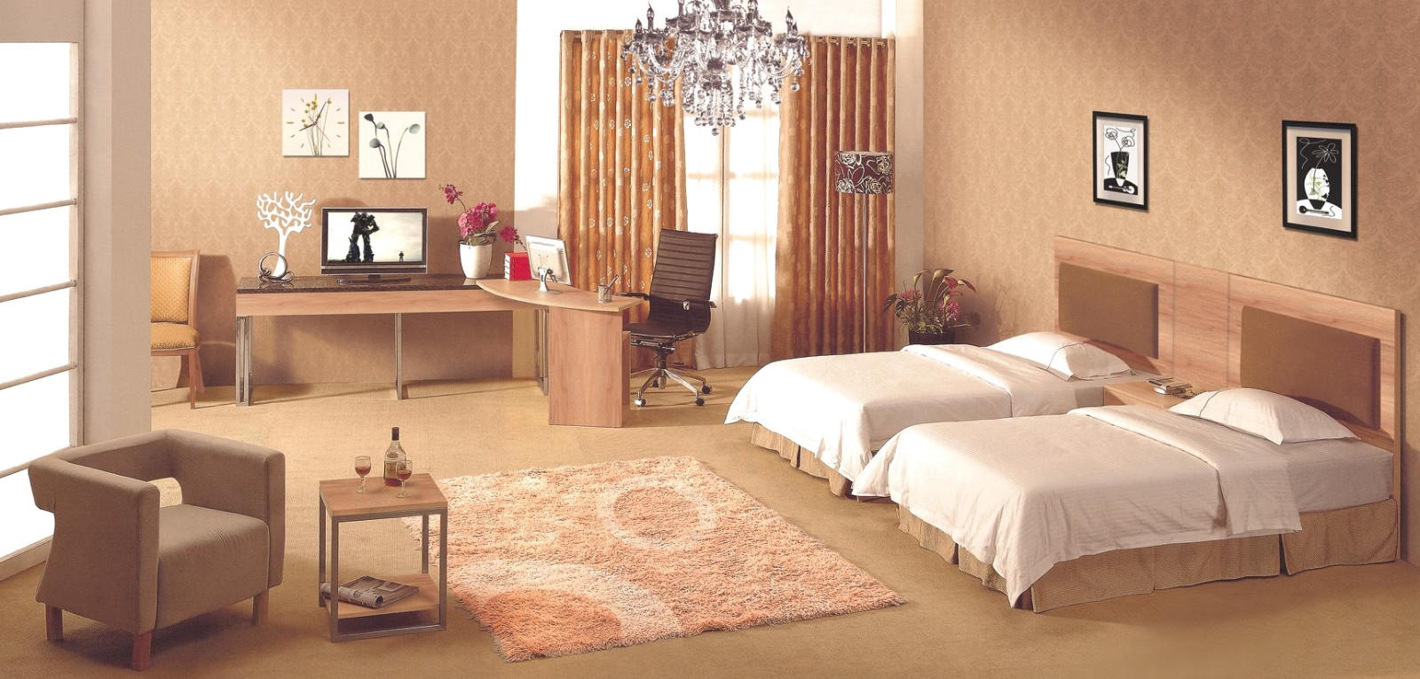 YSK Furniture hotel discount hotel furniture king for furnishings-1