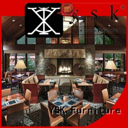 YSK Furniture solid wood restaurant furniture design luxury dining furniture