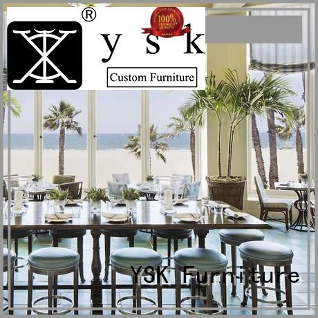 YSK Furniture modern style luxury restaurant furniture plywood ship furniture