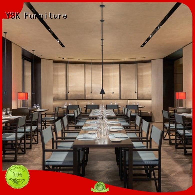 YSK Furniture modern style luxury restaurant furniture interior five star hotel