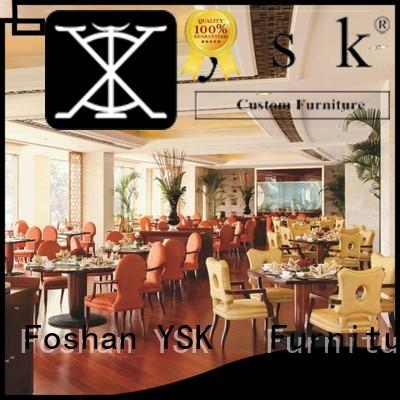 YSK Furniture customize modern restaurant furniture interior ship furniture