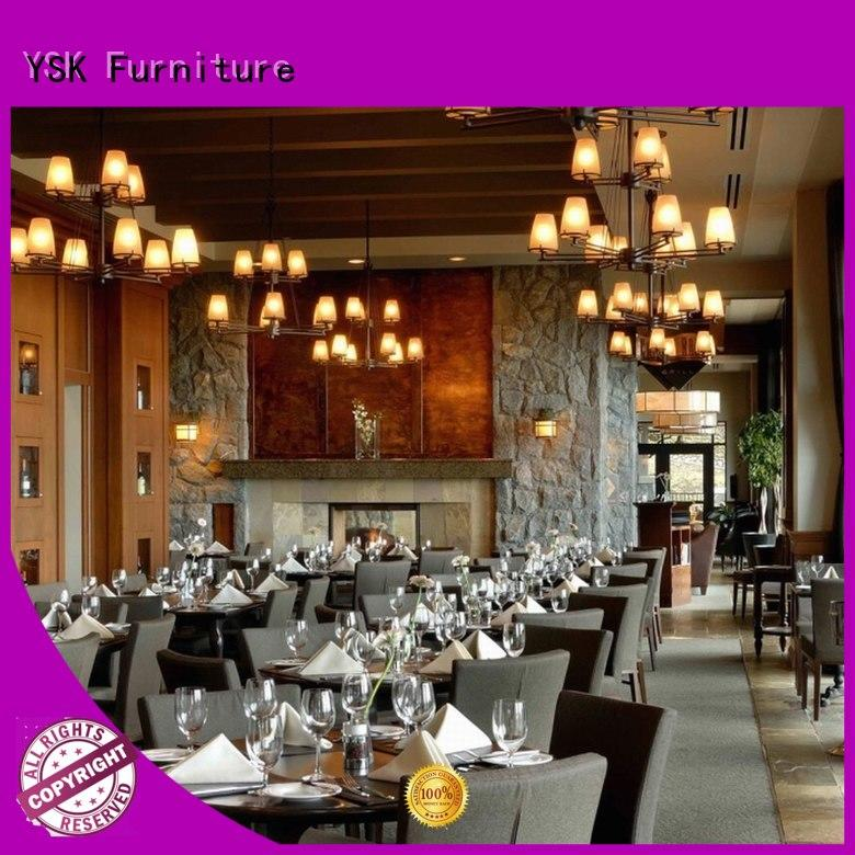 YSK Furniture high grade modern restaurant furniture plywood restaurant furniture