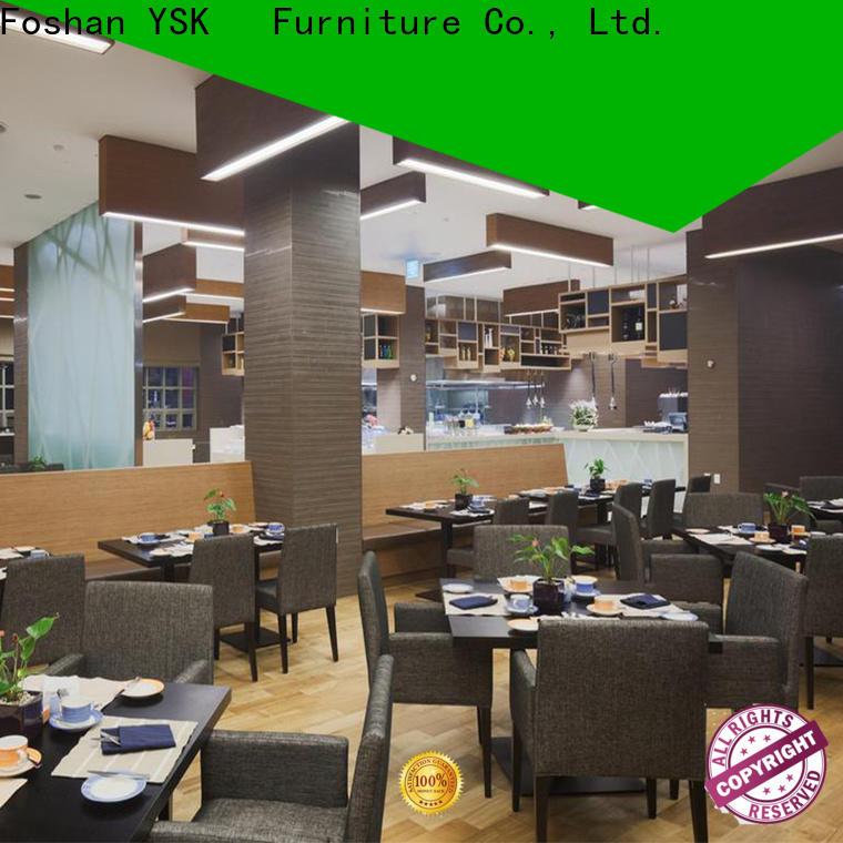 YSK Furniture modern style modern restaurant furniture plywood five star hotel