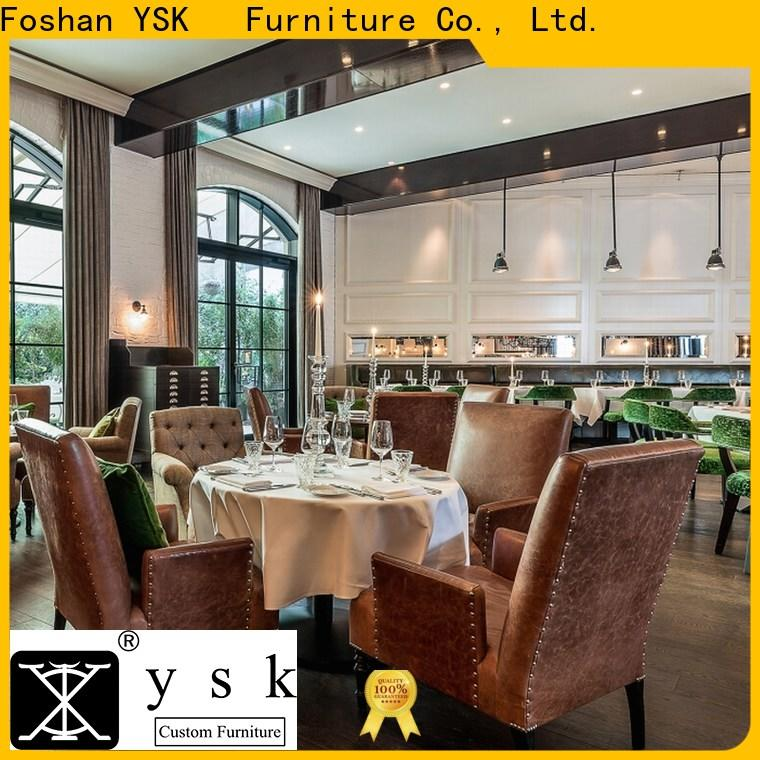 YSK Furniture deluxe design custom restaurant furniture high quality dining furniture
